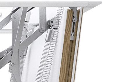 Ecco loft ladder concealed hinge mechanism. Premier Loft Ladders
