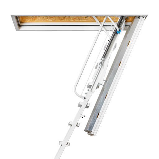 Isotec heavy duty attic ladder. Insulated attic hatch and fire rated to up to 120 mins