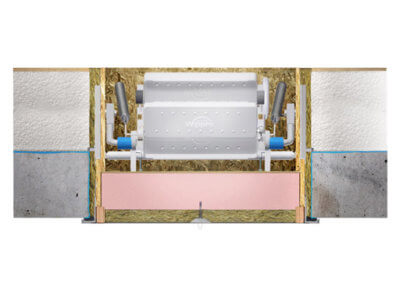 Klimatic 160 cross-section. Installation in concrete slab ceiling. Premier Loft Ladders