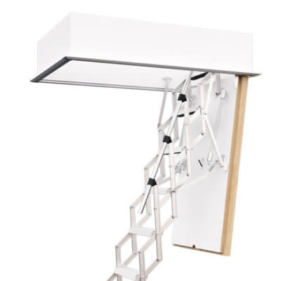 Fire rated loft ladder for small openings. MiniLine available from Premier Loft Ladders
