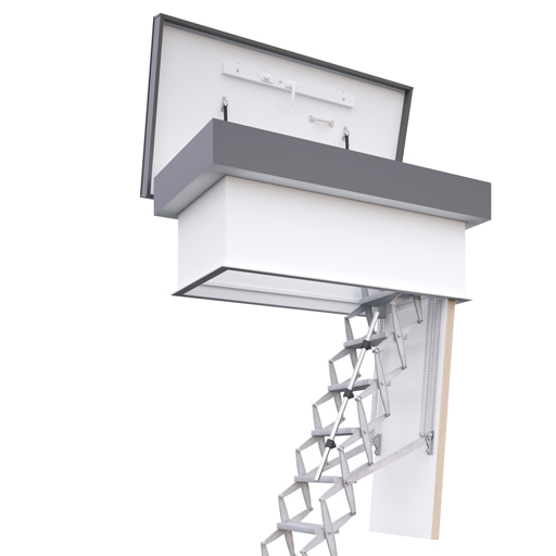 Supreme roof hatch with heavy duty ladder. Premier Loft Ladders