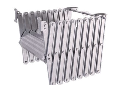 Piccolo Loft Ladder. Compact concertina loft ladder.