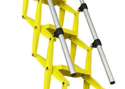 Elite heavy duty loft ladder with bold yellow finish & two handrails - Premier Loft Ladders