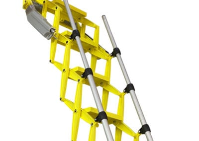 Elite heavy duty loft ladder with bold yellow finish - Premier Loft Ladders