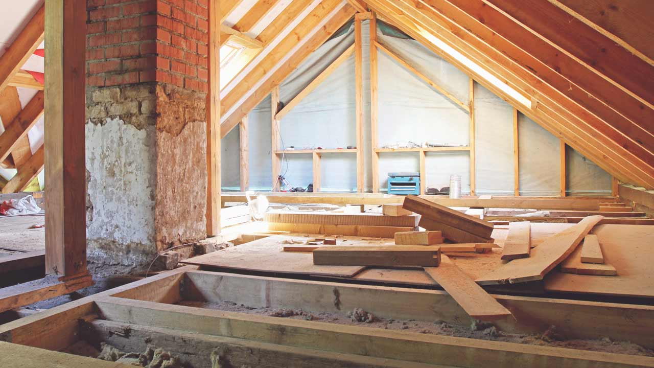 Building materials for loft conversion