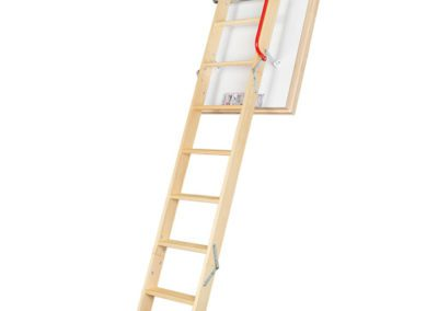 LWT Insulated wooden loft ladder. Available with Passive House certification.